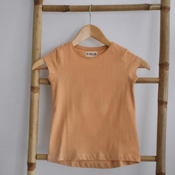 Tshirt fille manches courtes jaune