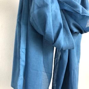 Echarpe Coton biologique Nile Blue