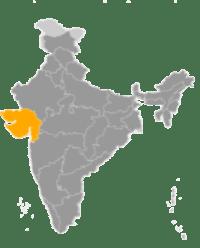 Inde région du Gujarat