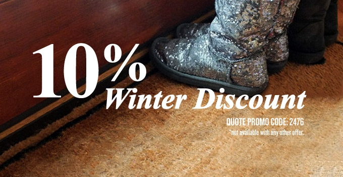 Have your carpets cleaned in January or Feb and Recieve a special 10% Discount