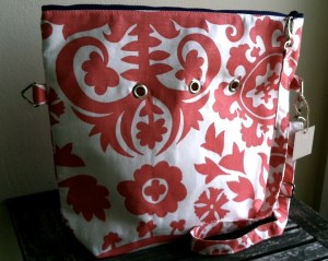 Totable in new Coral Swirl fabric
