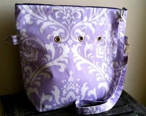 Totable in Purple Fleur pattern