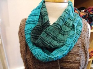 Sol Degrade Dropped-Stitch Infinity Scarf by Melissa Poon