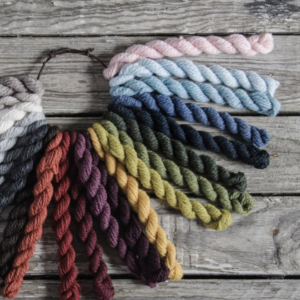 Woolstok color range. (Photo by Blue Sky Fibers)