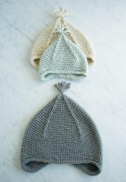 Garter Ear Flap Hat by Purl Soho, © Purl Soho