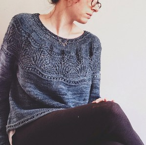 Waking Tide Pullover, © PinkBrutusKnits