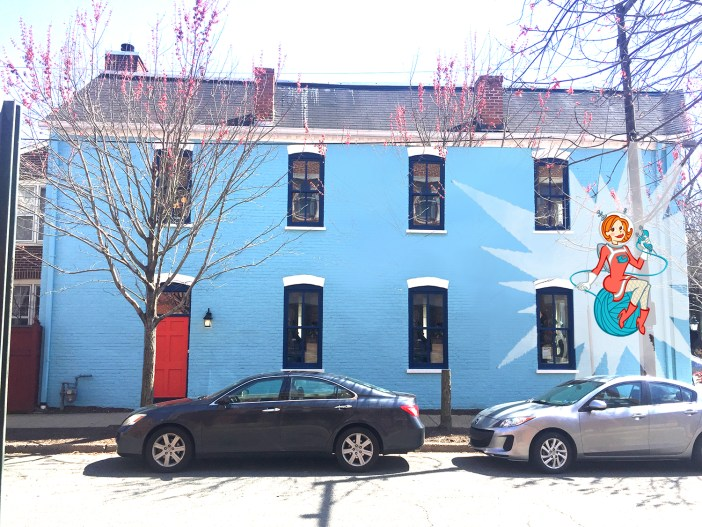 fibre girl mural