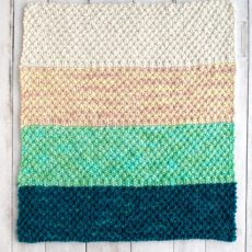 Simple Bulky Moss Stitch Baby Blanket