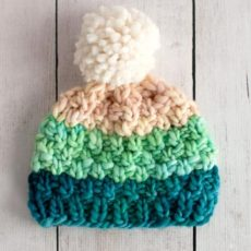 Simple Bulky Moss Stitch Baby Hat