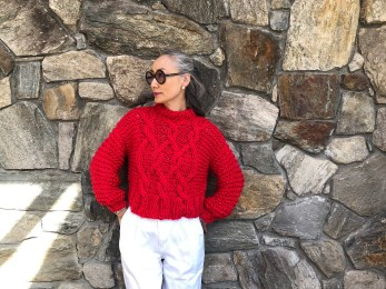 Urban Fisherman Sweater in Loopy Mango Big Cotton