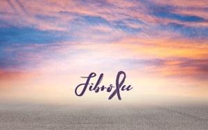 FibroFees Logo in lila geschwungener Schrift vor einem Foto mit Wolken, die von der Abendröte in den Farben lila, orange und gelb angestrahlt werden. Am unteren Ende gehen die Wolken in den Asphalt einer Straße über.