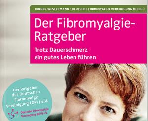 Das Bild zeigt das Buchcover vom Fibromyalgie-Ratgeber. Es zeigt ein Foto vom Oberkörper einer lächelnden Frau mit kurzen, roten Haaren im mittleren Alter.