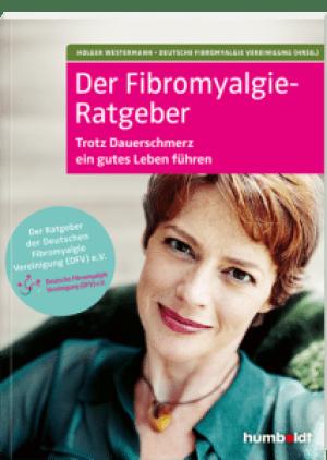 Das Bild zeigt das Buchcover des Fibromyalgie-Ratgebers. Es zeigt ein Foto vom Oberkörper einer lächelnden Frau mit kurzen, roten Haaren im mittleren Alter.