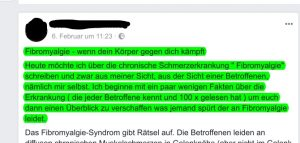 Teil 1 - Facebook-Beitrag Frau X