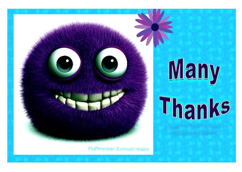 MANY THANKS Purple fluff JPEG