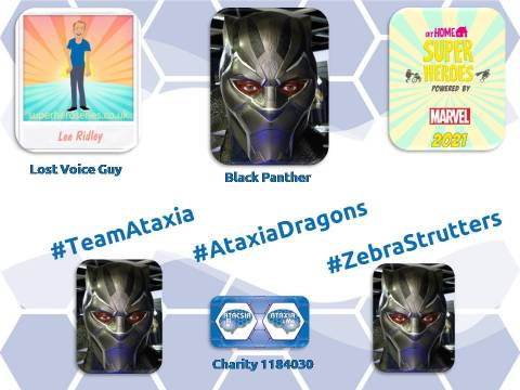 We're off mobilising for charity Ataxia and Me - #TeamAtaxia #AtaxiaDragons - Dragon Valley Theatre #ZebraStrutters - FibroFlutters