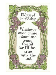 Pledge of Friendship Poster