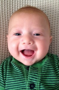 My newest nephew, Jasper, and his biggest grin.