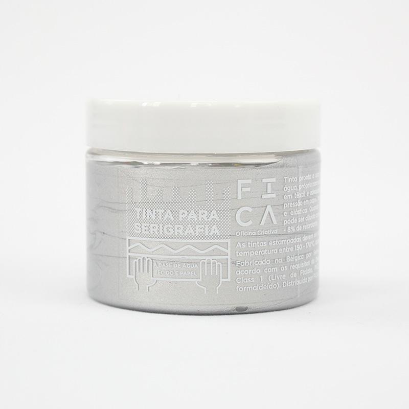 Tinta à base de água para serigrafia - Cores metálicas - Silver