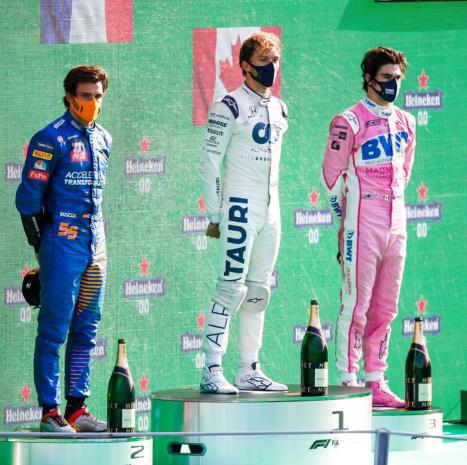 Podio Gran Premio de Italia 2020