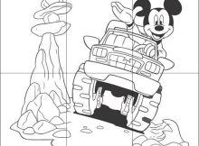 Rompecabezas de Mickey Mouse para imprimir