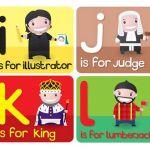 abecedario inglés primaria letras i, j, k, l