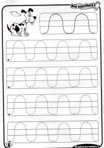 Fichas de grafomotricidad trazos en ondas