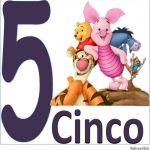 Carteles de los números para niños 5