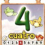El número cuatro para niños