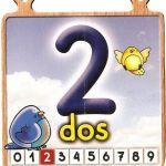 El número 2 para niños