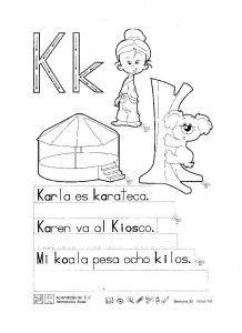 abecedario infantil k