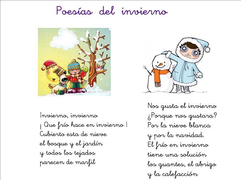 poemas y rimas del invierno para ni os fichas de primaria
