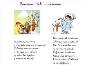 poesías del invierno para niños