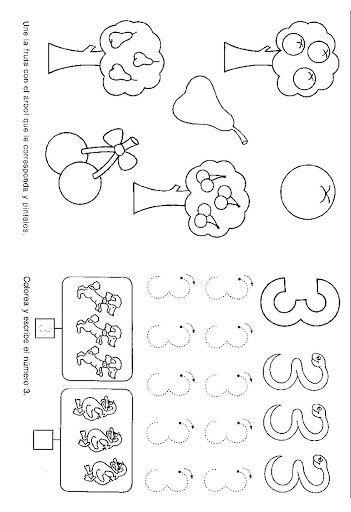 fichas de caligrafía infantil 4 años