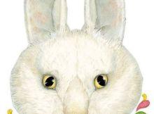 máscara de un conejo blanco