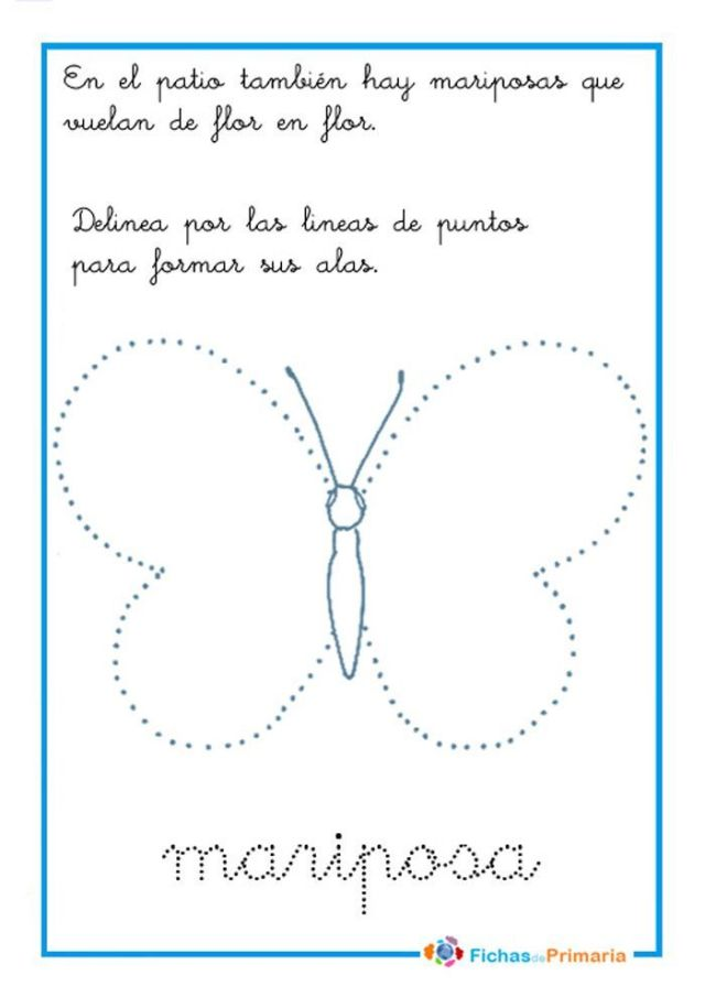 grafomotricidad mariposa