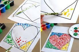 corazón decorado con pintura