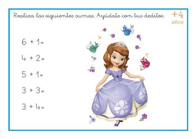 sumas faciles para niños pequeños