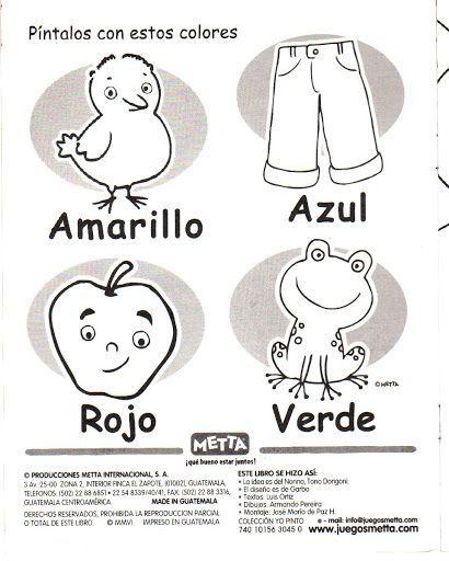 vocabulario de los colores para pintar - Fichas de primaria