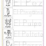 ejercicios de caligrafía letra p