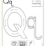 Fichas de caligrafía letra q