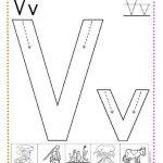 caligrafía letra v