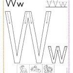caligrafía letra w