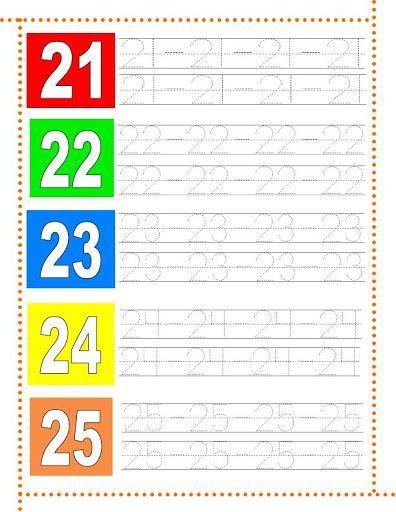 25 30 1 Microsoft W: Caligrafía De Los Números Del 1 Al 30