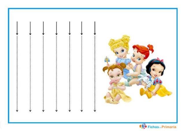 trazos verticales para niños