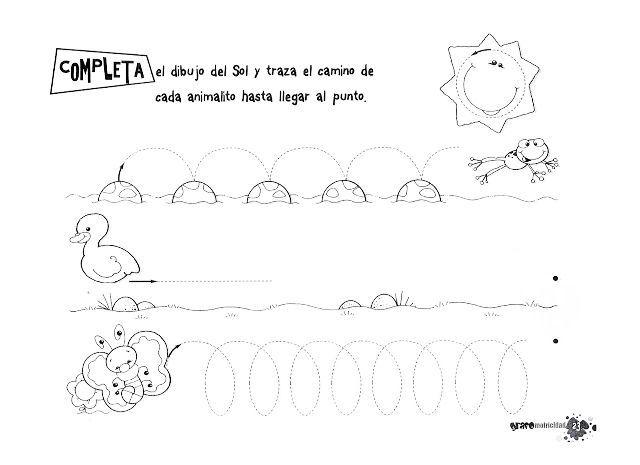 Fichas De Grafomotricidad Para Niños De 4 Años Fichas De Primaria