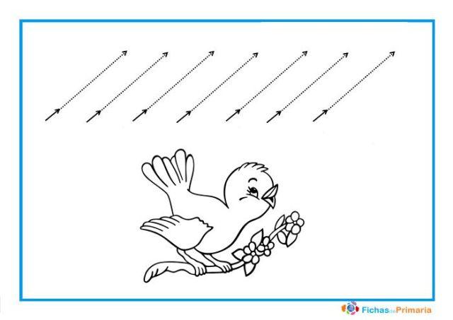 trazos diagonales para infantil