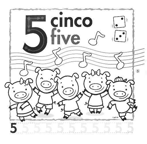 Numero 5 Para Colorear En Ingles Números En Inglés Web Del