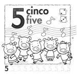 el número 5 en inglés para infantil