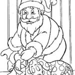 colorear papá noel con regalos